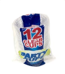 96 Units of 12 Piece 9 oz Clear Party Cups - Party Paper Goods