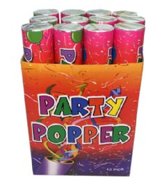 72 Units of 12 In 1 Party Popper 30 Cm Display - Party Favors