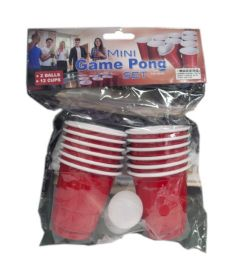 96 Units of Game Pong Set With 2 Mini Balls - Party Favors