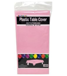 96 Units of Table Cover Light Pink 54X108 - Table Cloth