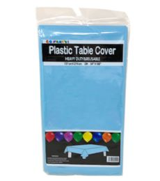 96 Units of Table Cover Light Blue 54X108 - Table Cloth