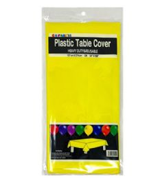 96 Units of Table Cover Yellow 54X108 - Table Cloth
