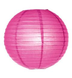 96 Units of 8 Inch Paper Lantern In Fuschia - Party Center Pieces