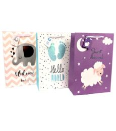 144 Units of Baby Gift Bag Large Size - Gift Bags Baby