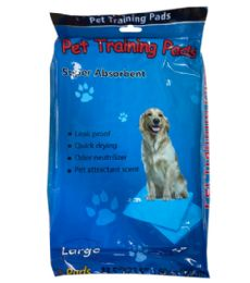 72 Units of 3 Piece Large Absorbent Pet Pads - Pet Grooming Supplies
