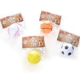 240 Units of Squeaky Ball Pet Toy Assorted Style - Pet Toys