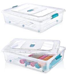 6 Units of 55 Liter Under Bed Storage Box Xlarge - Storage Holders and Organizers