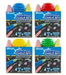 24 Units of Sidewalk Chalk 4CT With Chalk Holder - Chalk,Chalkboards,Crayons