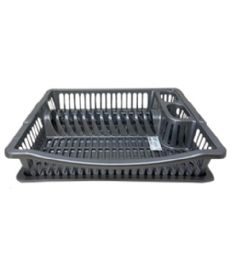 24 Units of Dish Rack With Drainer In Gray - Dish Drying Racks
