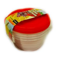 48 Units of 3 Piece Round Storage Container - Food Storage Containers