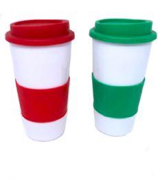 72 Units of Coffee Mug With Protection Sleeve - Coffee Mugs