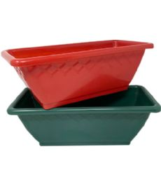 72 Units of Flower Box 13.75 Inch - Garden Planters and Pots