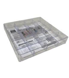 72 Units of Plastic Clear Organizer Square 16 Section - Storage & Organization