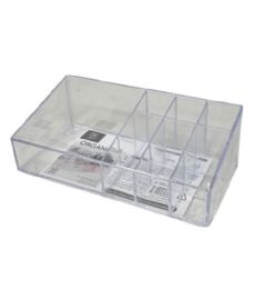 72 Units of Plastic Clear Organizer Rectangle 10 Section - Storage & Organization