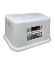 48 Units of Plastic Step Stool In White - Stools