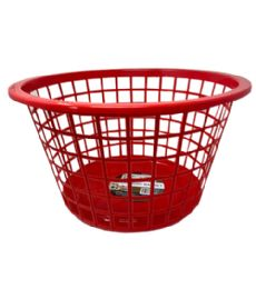 96 Units of Plastic Laundry Basket Assorted Color - Laundry Baskets & Hampers
