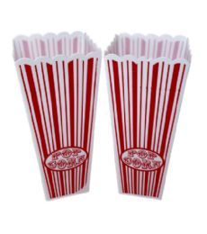 96 Units of Plastic Popcorn Container Small - Plastic Bowls and Plates