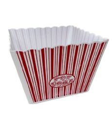96 Units of Plastic Popcorn Container Square Large - Plastic Bowls and Plates