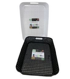 72 Units of Plastic Basket Rectangle Shallow - Storage & Organization