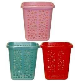 10 Units of Rectangle Plastic Laundry Basket - Laundry Baskets & Hampers