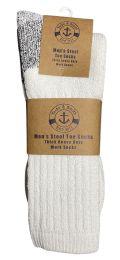 12 Units of Yacht & Smith Men's Heavy Duty Steel Toe Work Socks, White, Sock Size 10-13 - Mens Crew Socks