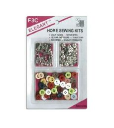 96 Units of 8 Hooks 15 Fasteners 66 Buttons - Sewing Supplies