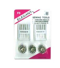 96 Units of 2 Box 10 Count Machine Needle 3 Bobbins - Sewing Supplies