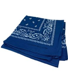 300 Units of Paisley Bandana In Navy Blue Color - Bandanas