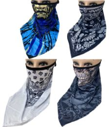 60 Units of Sun Half Face Mask Scarf In Assorted Color - Face Mask