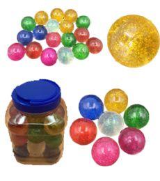 12 Units of 24 Piece Glitter Bouncing Ball - Balls