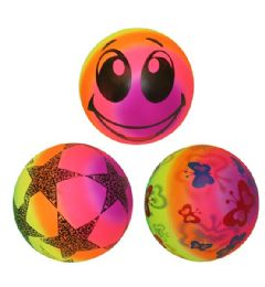 120 Units of 9 Inch Pvc Ball Rainbow - Balls