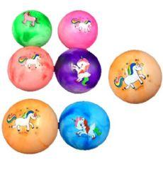 120 Units of Pvc Marble Unicorn Ball 9 Inch - Balls