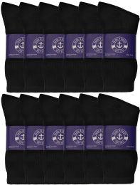 1200 Units of Yacht & Smith Womens Cotton Black Crew Socks, Sock Size 9-11 - Womens Crew Sock