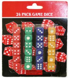 120 Units of 24 Piece Dice Set - Playing Cards, Dice & Poker