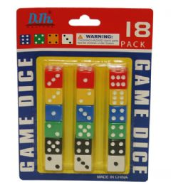 96 Units of 18 Piece Dice Set - Playing Cards, Dice & Poker