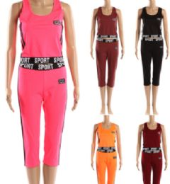 72 Units of Womens 2 Piece Sport Active Wear - Womens Active Wear