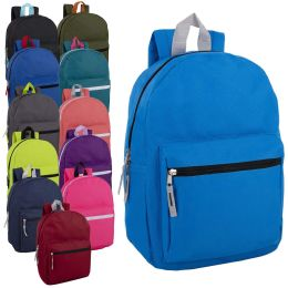 """24 Units of 15 Inch Basic Backpack - Backpacks 15"""" or Less"""