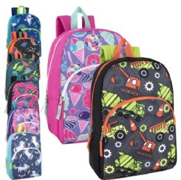 """24 Units of 15 Inch Character Backpacks - Backpacks 15"""" or Less"""