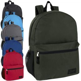 "24 Units of 18 Inch Backpack With Side Pocket - Backpacks 18"" or Larger"