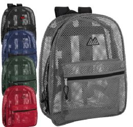 24 Units of Premium Quality Mesh 17 Inch Backpack - Backpacks 17""