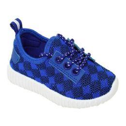9 Units of Kids Knit Sneaker In Blue - Boys Sneakers