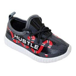 9 Units of Kids Snake Print Jogger - Boys Sneakers