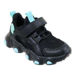 12 Units of Girls Sneakers Casual Sports Shoes In Black And Mint - Girls Sneakers