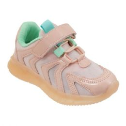 12 Units of Girls Sneakers Casual Sports Shoes In Rose Gold - Girls Sneakers
