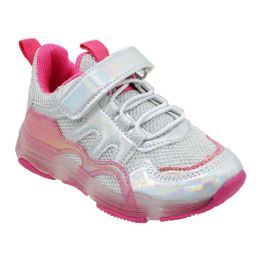 12 Units of Girls Sneakers Casual Sports Shoes In Pink - Girls Sneakers