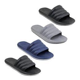 48 Units of Mens Slide Sandals - Men's Flip Flops and Sandals
