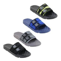 48 Units of Men's Buckle Slide - Men's Flip Flops and Sandals