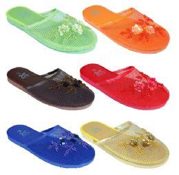 96 Units of Ladies Solid Color Sandals Sizes 6-11 - Women's Sandals