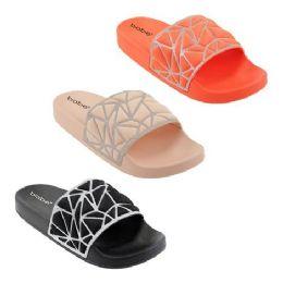 30 Units of Women's Glitter Slides - Women's Sandals