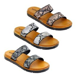 30 Units of Women's Double Band Snake Sandals - Women's Sandals